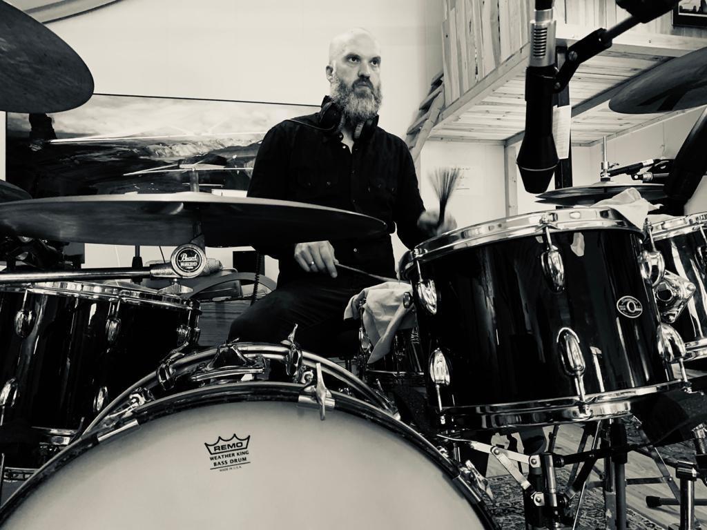 JUST - recording drums @ PINNA studios